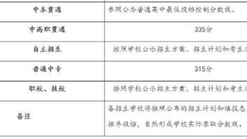 2018上海普通中专录取最低分数线:315分