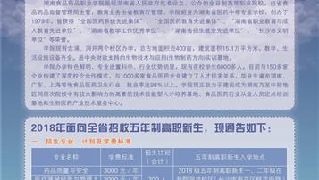 湖南食品药品职业学院2018招生简章