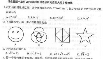 2019年黑龍江綏化中考數學真題及答案【圖片版】
