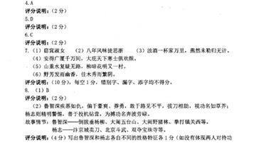 2019年齊齊哈爾中考語文試題答案及解析【圖片版】