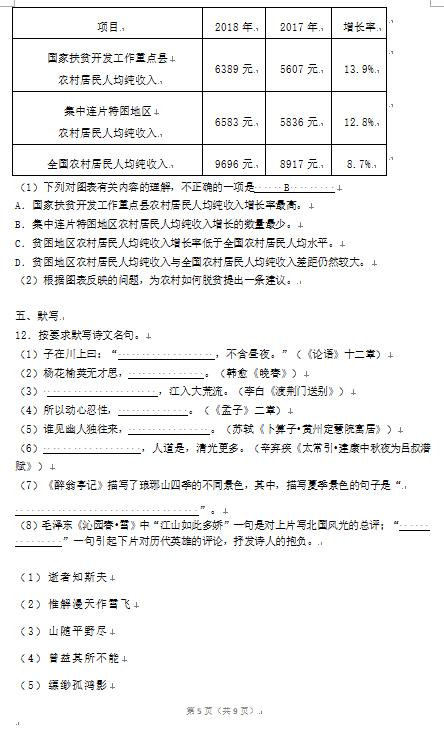 2019年山東日照中考語文真題及答案【圖片版】5.png