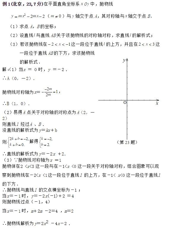 路標中考數學題型