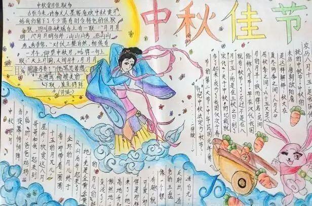 2021年中秋节初中生优秀手抄报精选