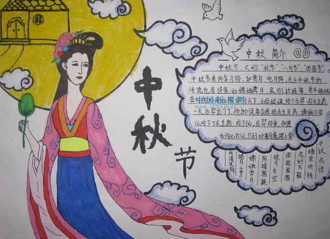 2021年中秋节小学生精美手抄报